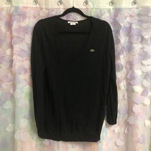 Women's Lacoste V Neck Sweater